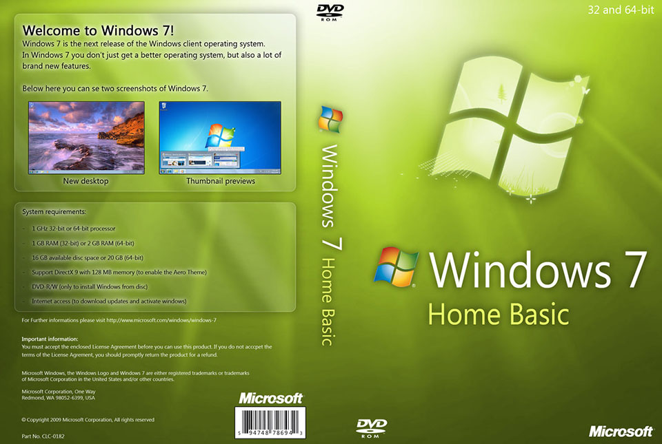 windows 7 home basic 64bit