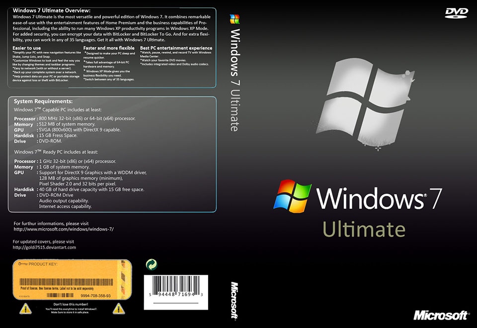windows 7 ultimate 64bit