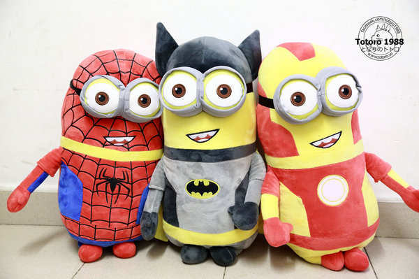 Minion cosplay Spiderman 50cm