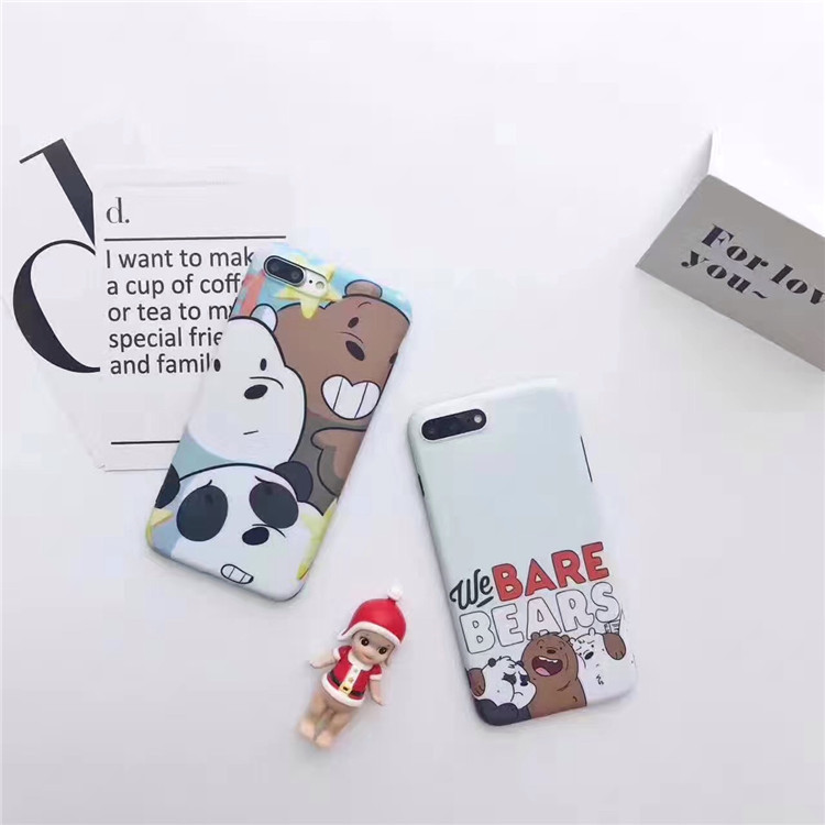 Case cứng We Bare Bear cho iPhone 6/6+/7/7+