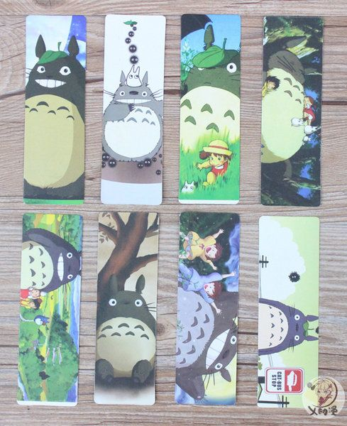 Bookmark giấy tệp 8 chiếc Totoro