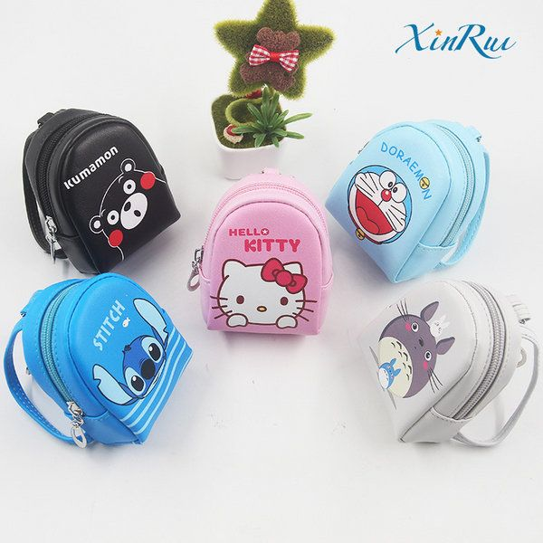 Móc khóa dạng balo mini Totoro, Stitch, Doraemon, Kitty, Kumamon