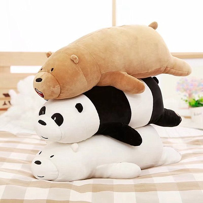 Gấu We Bare Bear nằm