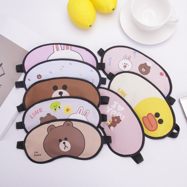 Bịt mắt có gel massage LINE: Brown, Cony, Sally