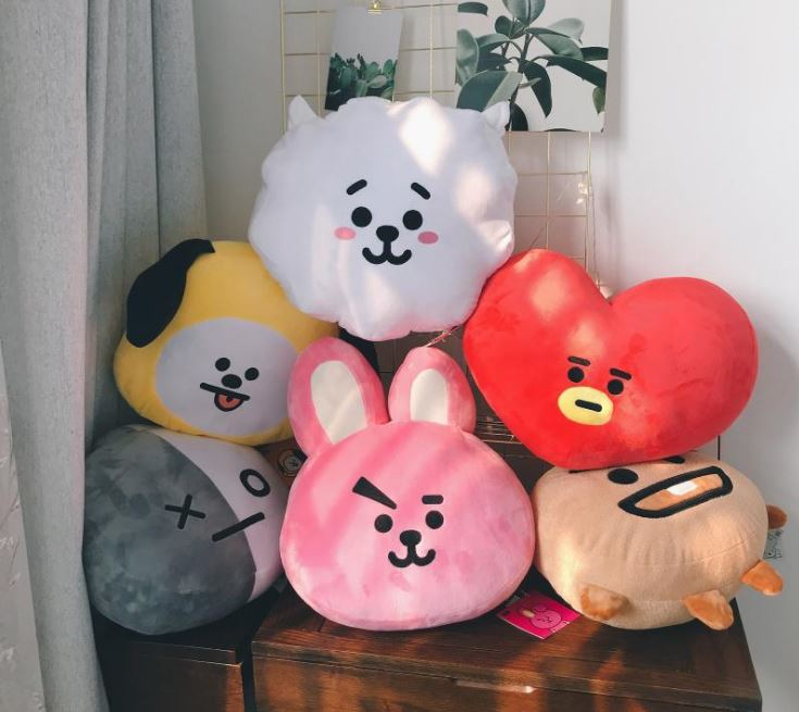 BT21 Face Cushion Doll BTS