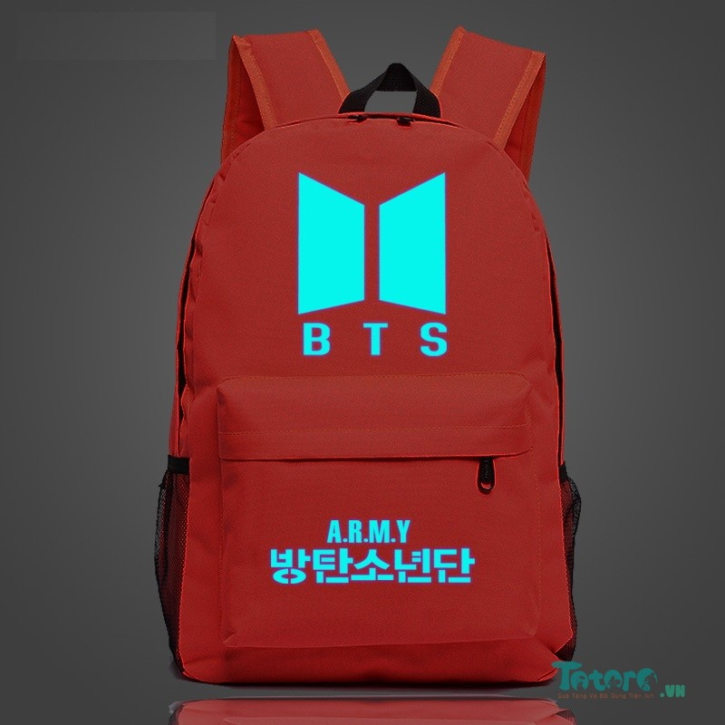 Balo dạ quang BTS ARMY - Red