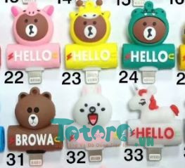 Jack chia cổng lightning Apple Brown Cony