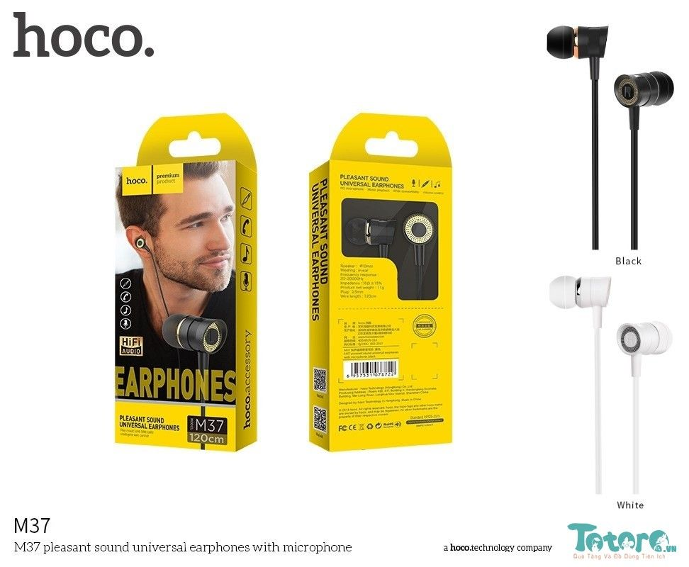 Tai nghe Earphone In-ear Hoco M37 Circle