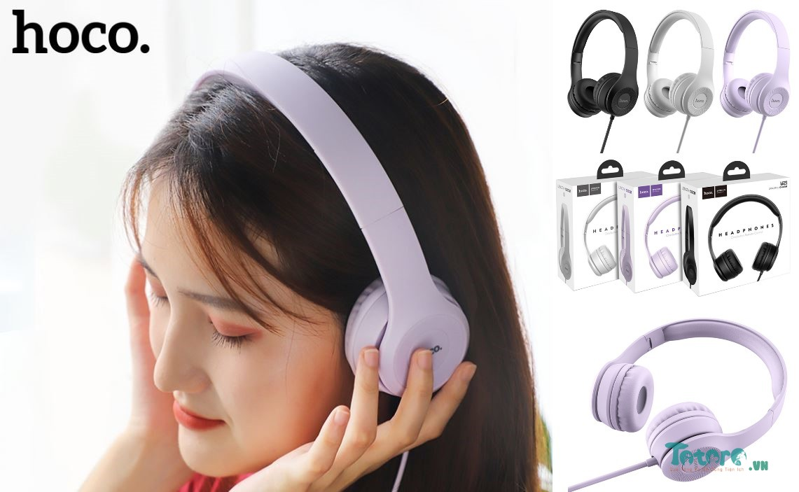 Tai nghe Headphone CH Hoco W21 Graceful Charm