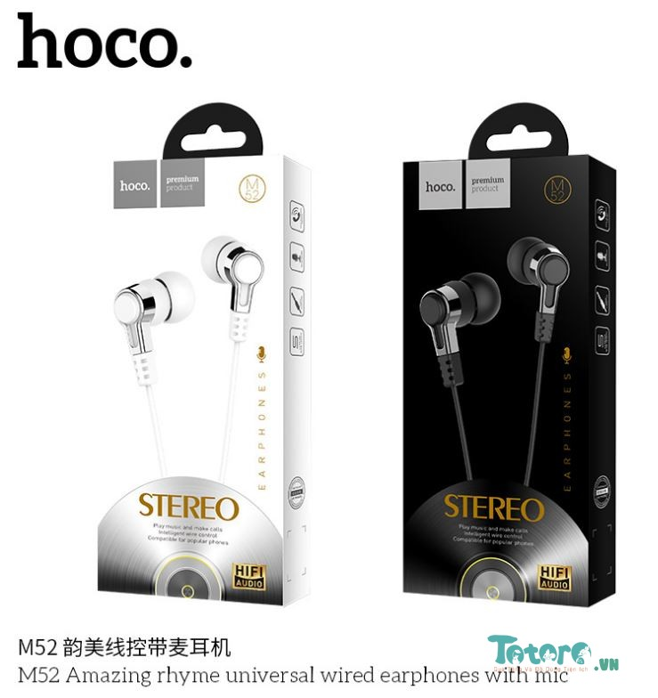 Tai nghe Earphone In-ear CH Hoco M52