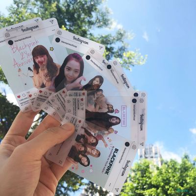 Card trong suốt Instagram Black Pink