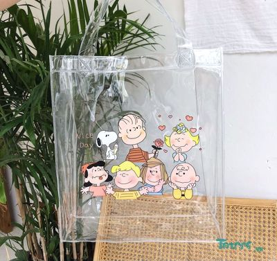 Túi Tote trong suốt Snoopy Family