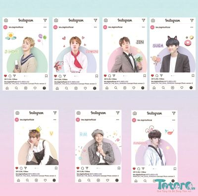 Card trong suốt instagram BTS idol