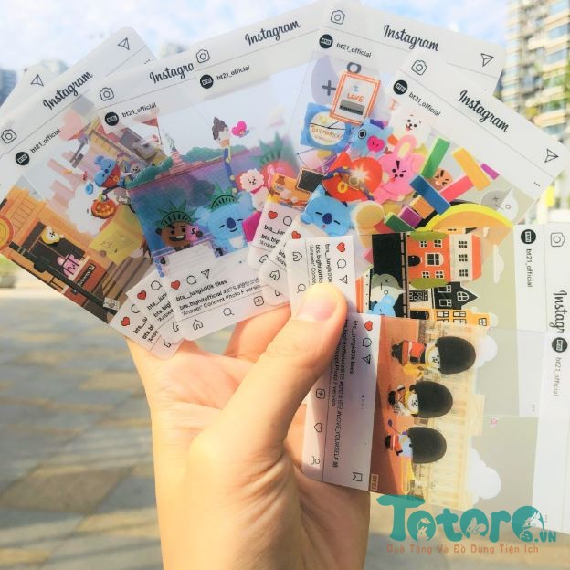 Card trong suốt instagram BT21