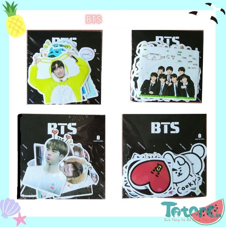 Sticker dán BTS