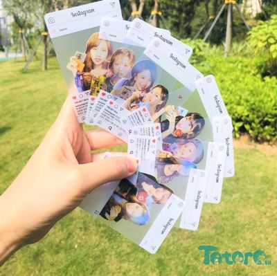 Card trong suốt Instagram Twice