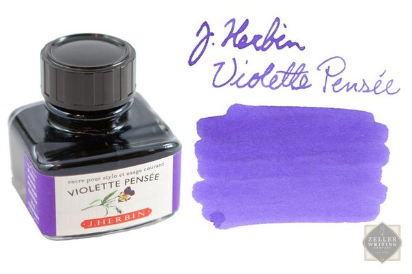 Mực J.Herbin French - 30ml - No.77 - Tím (Violette Pensée)