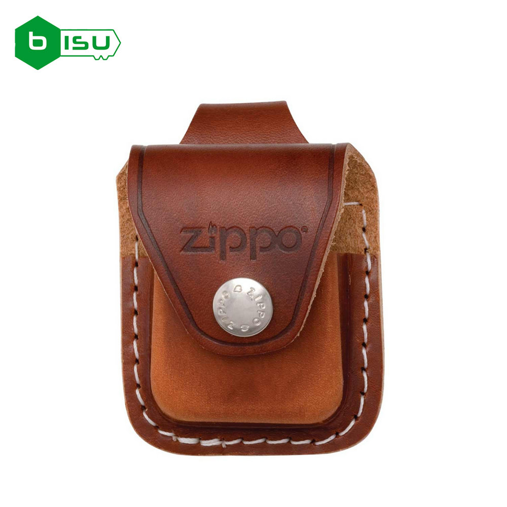 Zippo Bao đựng - Da nâu có Loop treo thắt lưng (Brown Leather Lighter Pouch LPLB - With Loop)
