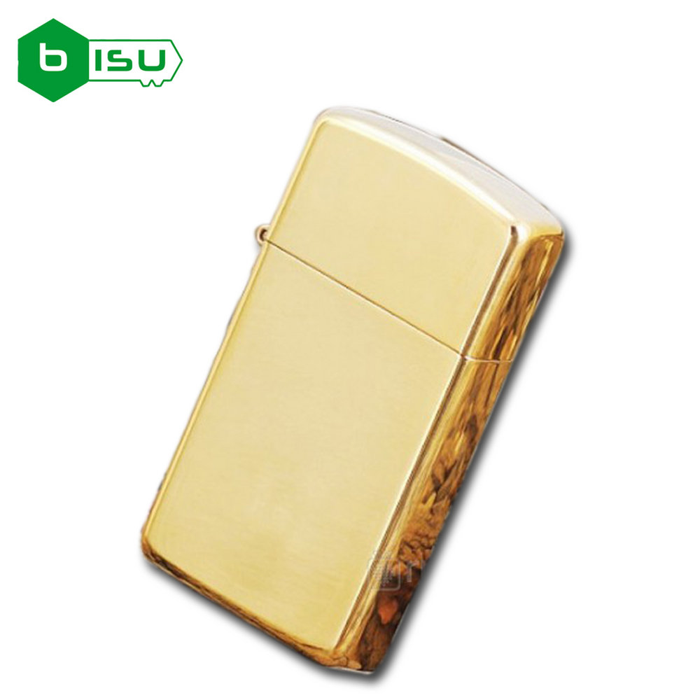 Zippo 1654B - Vỏ Đồng trơn bóng Slim (Slim High Polish Brass Pocket Lighter)