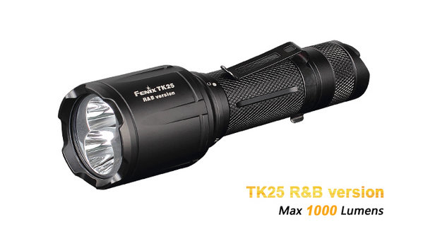 Đèn pin Fenix -TK25 R&B (White, Red, Blue lights -1000 lumens)