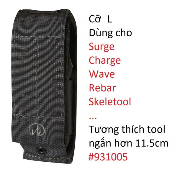 Bao Nilon - Màu Đen - Size L #931005 Leatherman (SuperTool 300, Surge, Charge TTi, AL/ALX, Wave, OHT, Crunch)