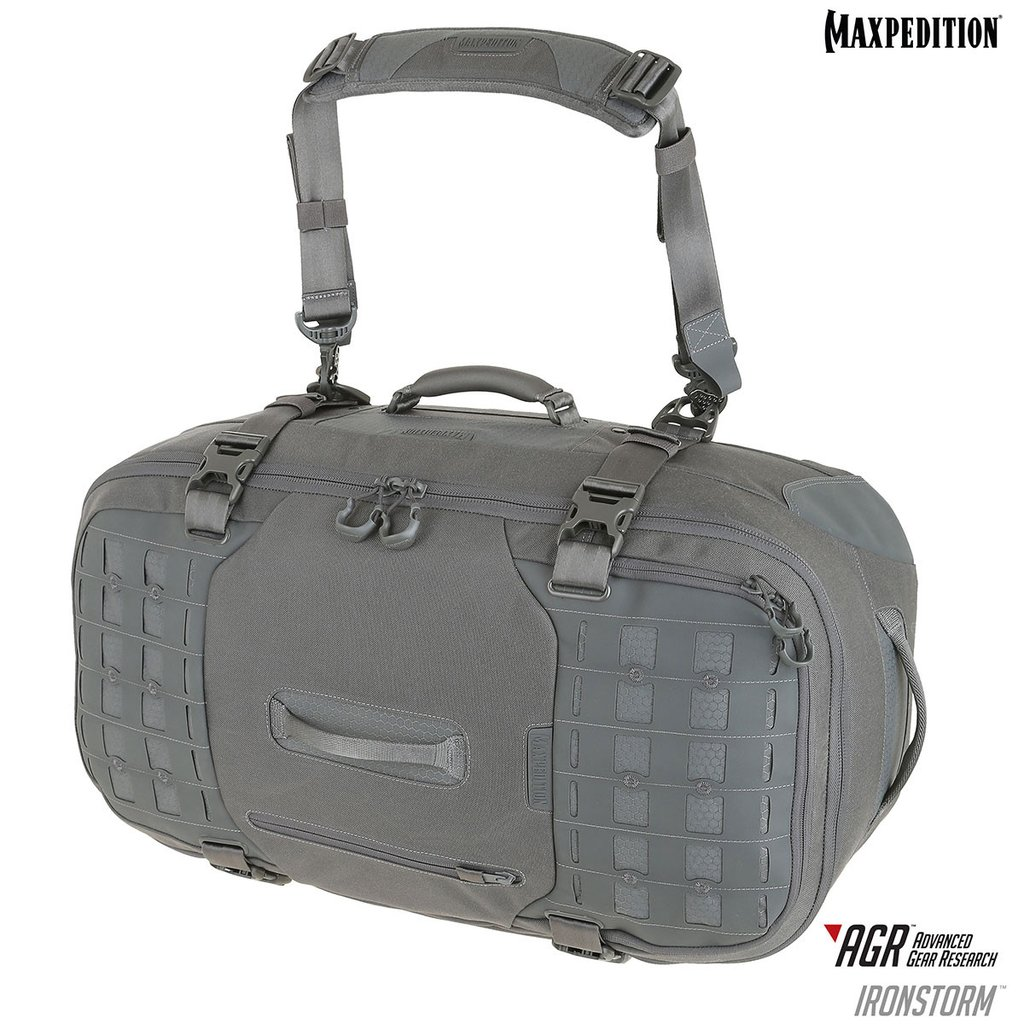 Maxpedition - Túi Ironstorm™ Adventure Travel Bag 62L (Màu Xám - RSMGRY)