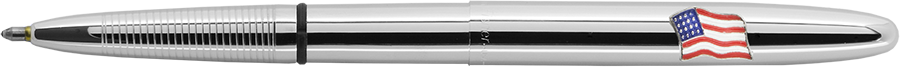 Bút bi Fisher Space - 600AF - Chrome Bullet Space Pen with American Flag (Ruột mực PR-4 màu Đen cỡ M)