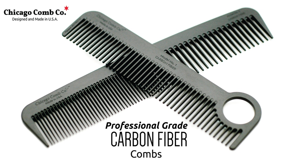 Lược Chicago Comb Model No. 1 - Carbon Fiber