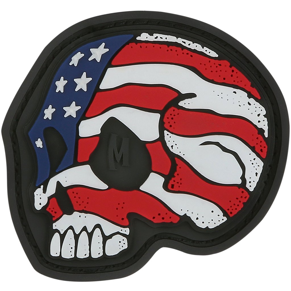 Maxpedition - Phù Hiệu Stars and Stripes Skull (Bản Full Color - Cao su PVC 1.6