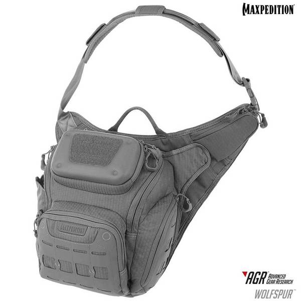 Maxpedition - Túi Wolfspur™ Crossbody Shoulder Bag 11L (WLFGRY - Màu Ghi xám)