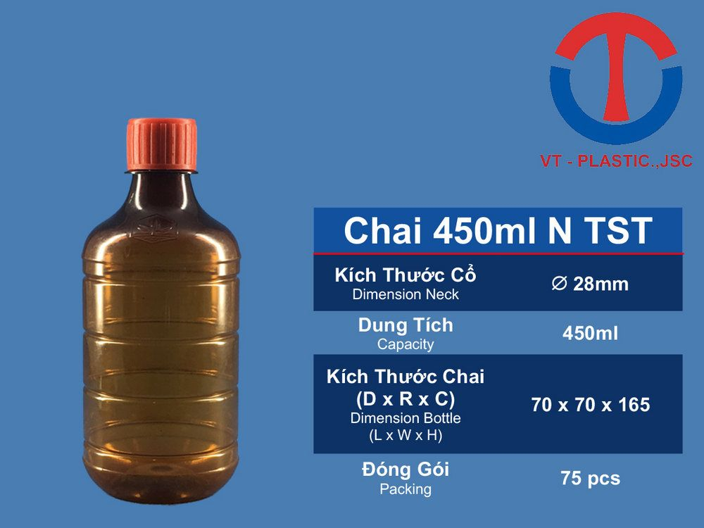 Chai 450ml N TST