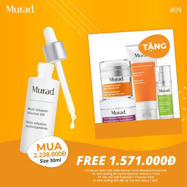 SET 9: MUA Vitamin Infusion Oil 30ml (2.238.000), Free 1.571.000 vnđ
