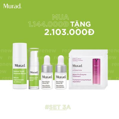KMT8 - SET 3A: Serum xóa mờ nếp nhăn Murad Retinol Youth Renewal Serum 10ml