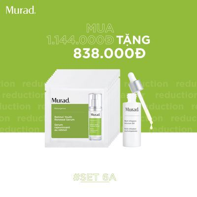 KMT8 - SET 6A: Serum tái tạo trẻ hoá da Murad Retinol Yount Renewal Serum 10ml (Free: Multi Vitamin Infusion Oil 10ML 588k)
