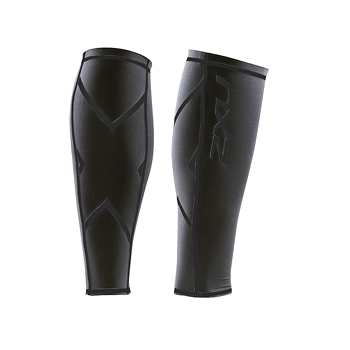 M | Bó calf 2XU Hyoptik Compression Calf Guards - Đen