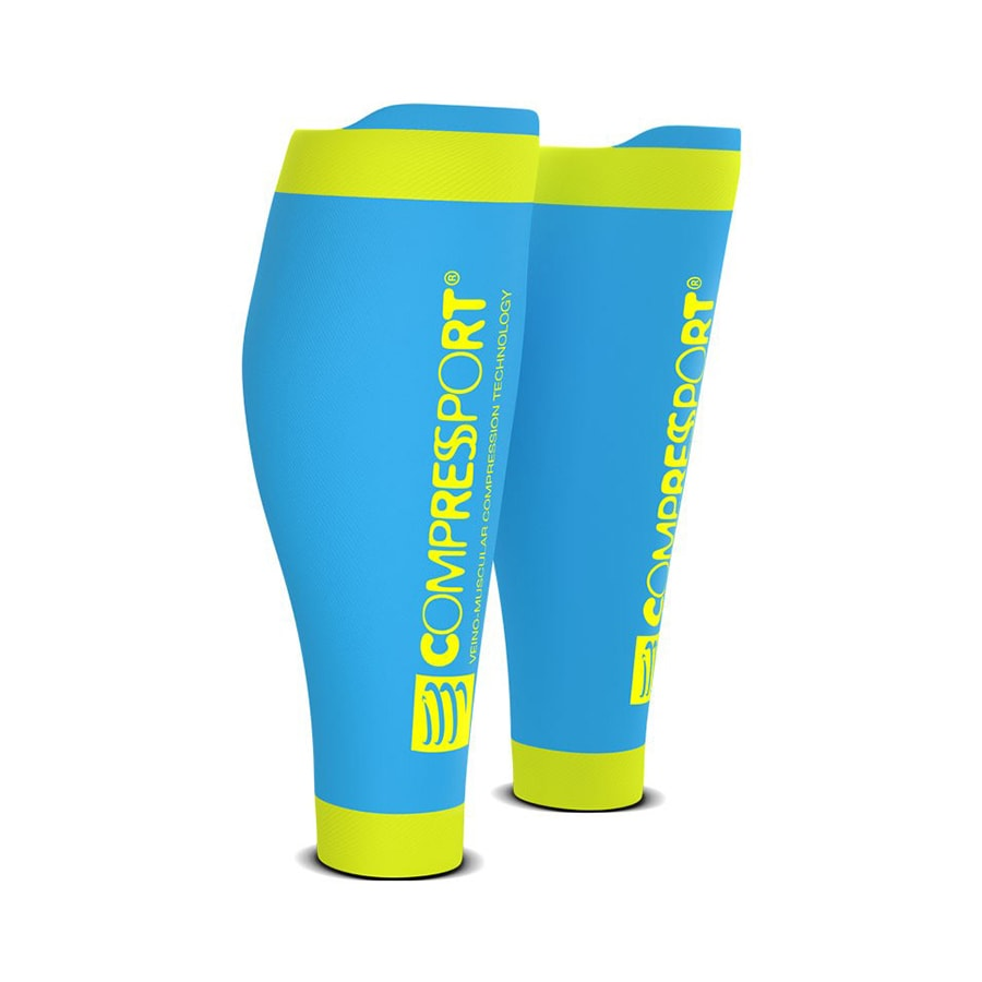 T3 | Compressport R2V2 Calf Sleeves - Ice Blue