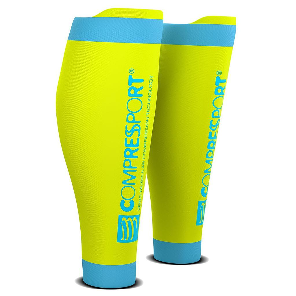 T3 | Compressport R2V2 Calf Sleeves - Yellow