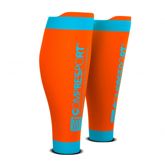 T3 | Compressport R2V2 Calf Sleeves - Orange