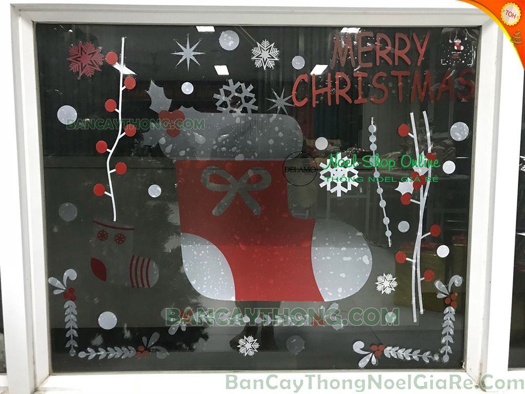 Decal tất noel