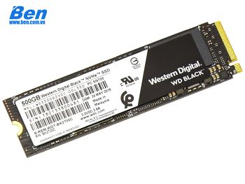 ổ cứng gắn trong WD SSD Black 500GB / PCIe Gen3 8 Gb/s / M2-2280 / Read up to 3400MB / Write up to 2500MB