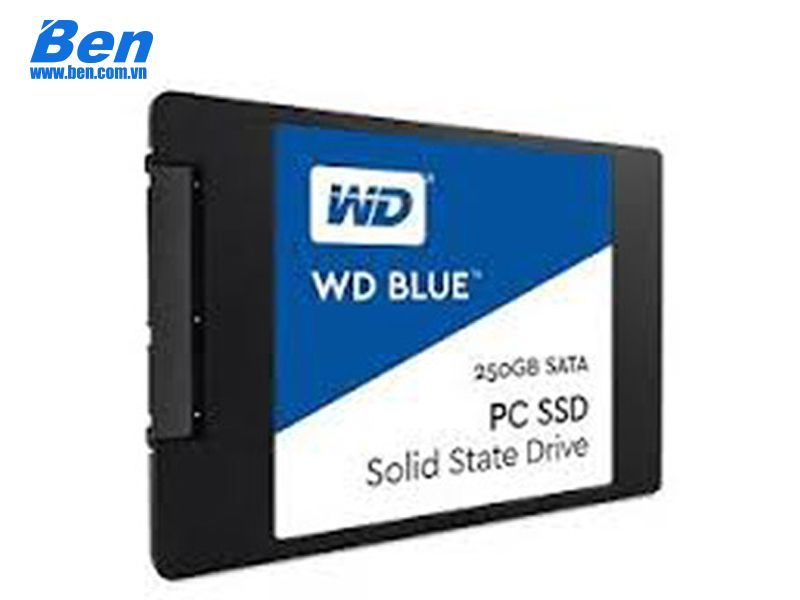 Ổ cứng SSD Western Blue 250GB / 2.57mm Sata3 / Read up to 550MB / Write up to 525MB / up to 95K/81K IOPS (WDS250G2B0A)