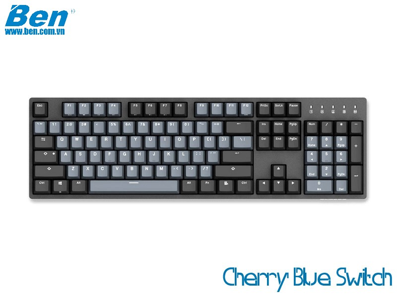 Bàn Phím Cơ Durgod Taurus K310 Space Gray (Cherry Blue Switch)