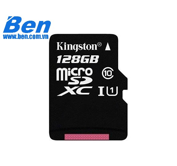 Thẻ nhớ Kingston 128GB microSDXC Canvas Select 80R CL10 UHS-I Card + SD Adapter_ SDCS/128GB