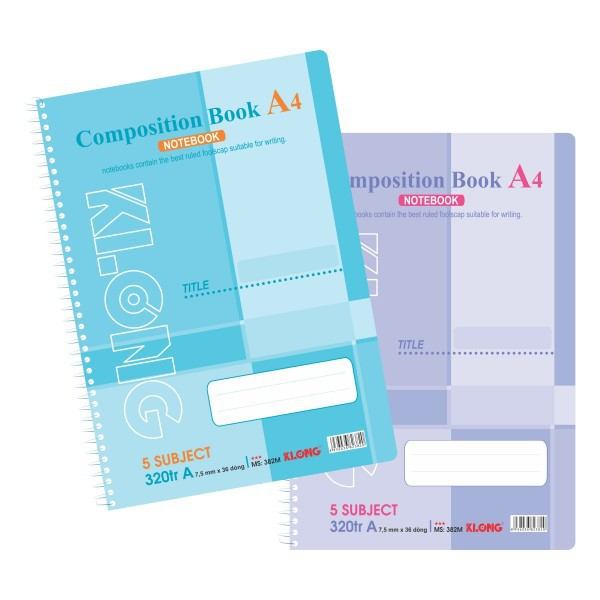 Sổ lò xo 320T A4 Compostion Book KLONG - 382M