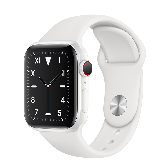 Apple Watch Series 5 Edition GPS + Cellular, 44mm White Ceramic Case with White Sport Band