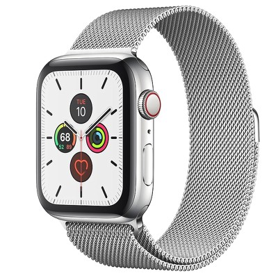 Apple Watch Series 5 GPS + Cellular, Stainless Steel Case with Milanese Loop 99%