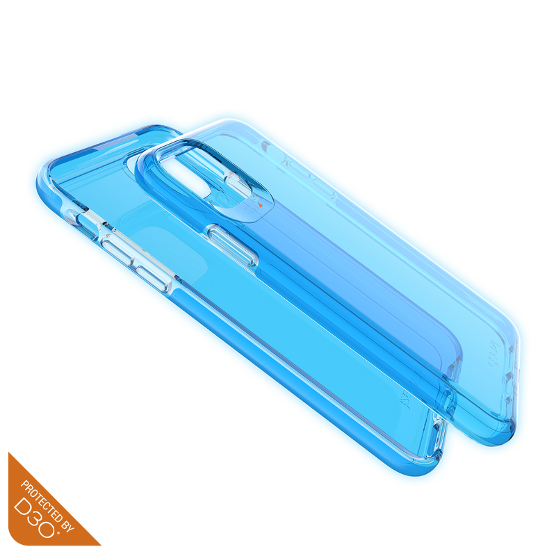Ốp lưng chống sốc GEAR4 D3O Crystal Palace Neon Blue iPhone 11 Pro Max - ICB64CRTNBLE